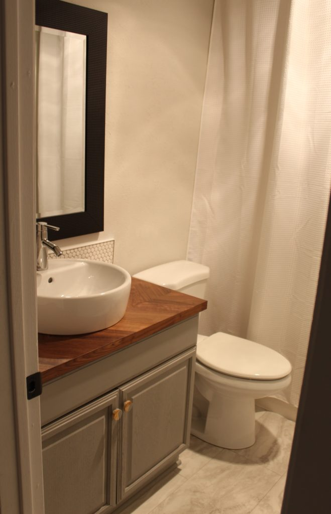 Our Bathroom Makeover Reveal - Cosmetic bathroom makeover