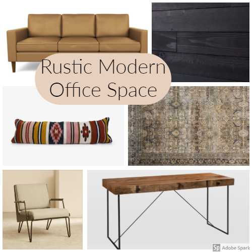 Rustic Modern Office Space U2013 One Room Challenge: Week One